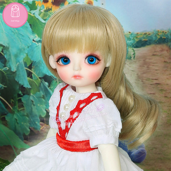 Wig For Doll BJD Lovely hair 1/6 Lovely-temperature Curly wig Baby Hair bjd Beautiful beauty The princess hair L6-05#24color 1