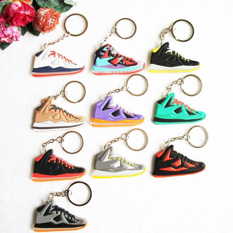 Мини-силиконовые Jordan Леброн 10 брелок сумка очарование женщины брелок подарки тапки Key Holder кулон Интимные аксессуары Обувь брелок