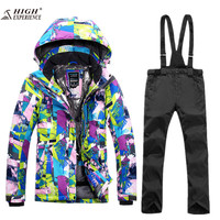 High Experience Ladies Snow Clothing Ski Jacket Women Skiing Pants Womens Mountain Skiing Outdoor Winter Warm