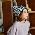 Autumn and winter fashionable lady knitted hat cap all-match cute new trend plaid wool hat high quality women knitted hat
