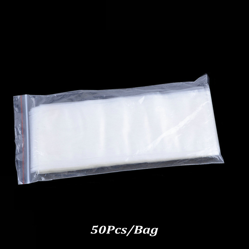 Upgrade Water Soluble Solid PVA Bags Bag Carp Fishing Tackle Baits 50 Pcs