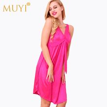 Sleepwear Women Nightgowns Night Dress Sexy Nighty Nightgowns Sleepshirts Sleeveless Nightwear Lingerie Dress Nuisette Summer