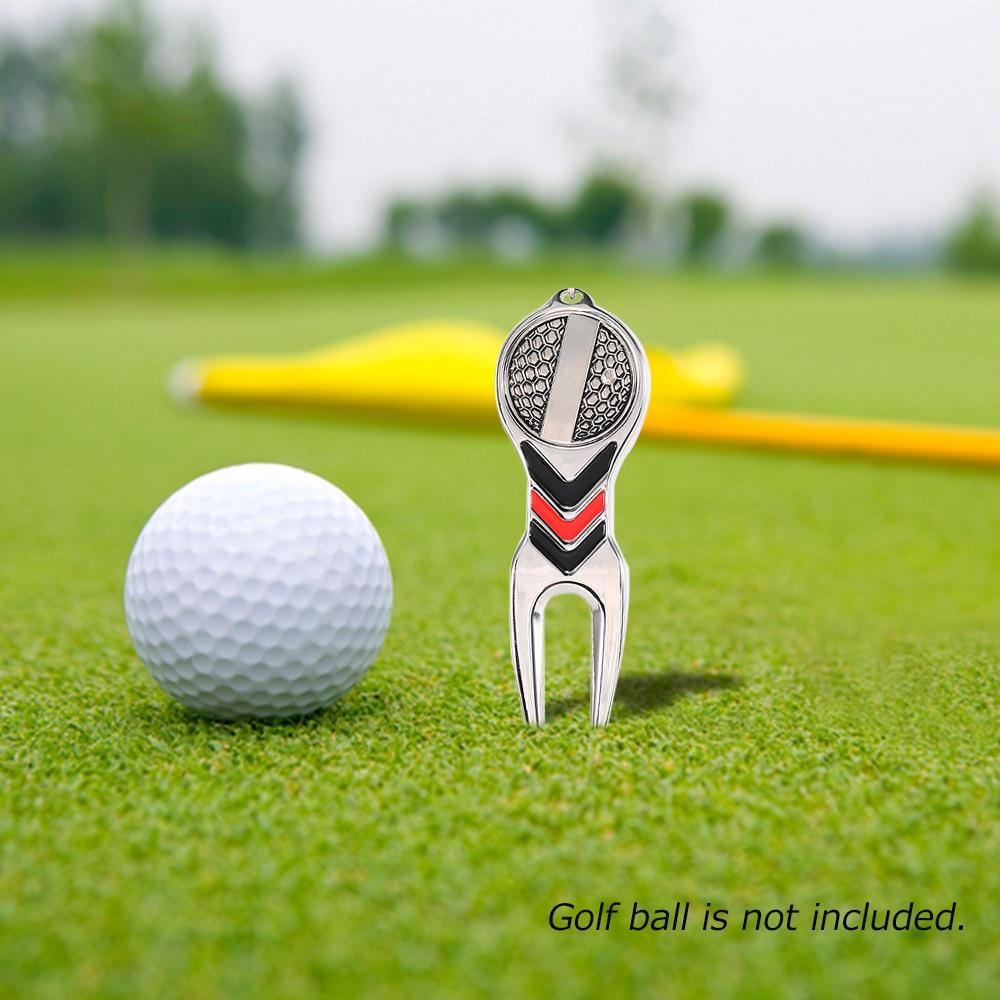 Golf Divot Repair Tool Golf Pitchfork Pitch Notch Cleaner Golf Training Aids Accessories High Quality Outdoor Sports Equipment