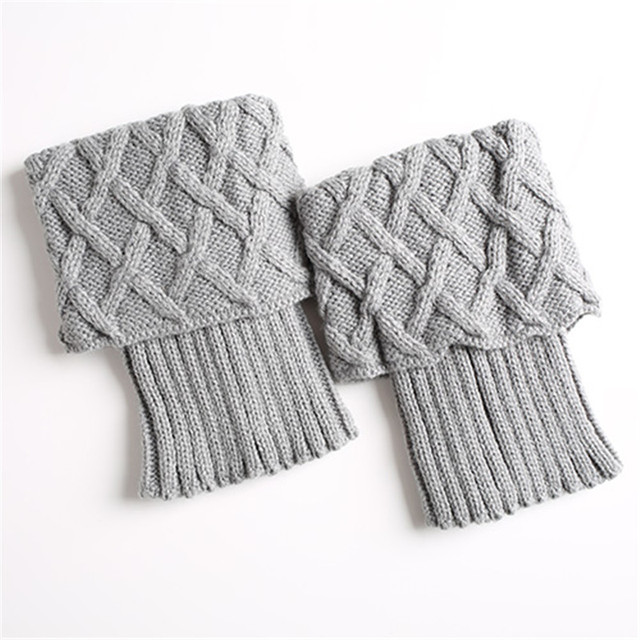 Knitted Leg Warmers Short Boot Cuffs Mawgie