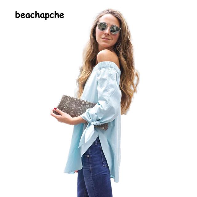 Nouveau mode printemps automne blanc À manches Longues arc-noeud plus taille lâche Casual blusas femininas shirt Femmes Blouse 2015 tops