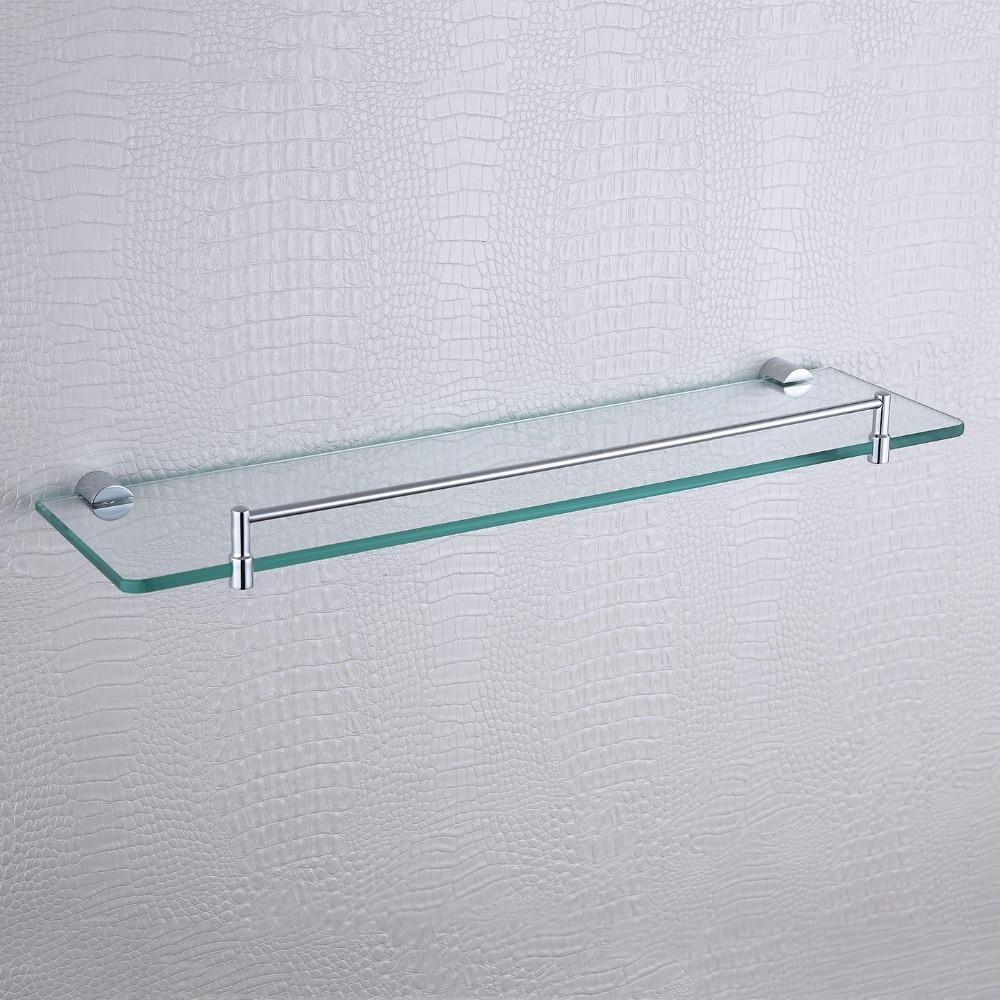 Bathroom Accessories Shelves Aliexpresscom Buy Single Glass Shelves Kit Polished Simple