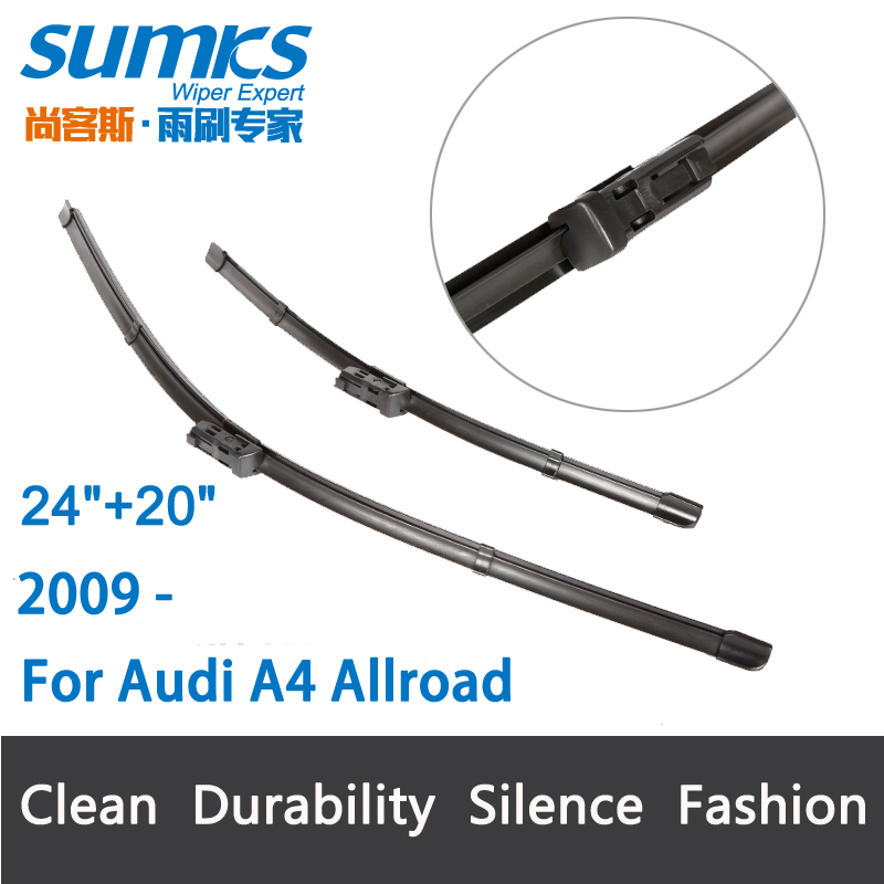"""Aliexpress.com : Buy Wiper blades for Audi A4 Allroad ( from 2009 onwards ) 24""""+20"""" fit push ..."""
