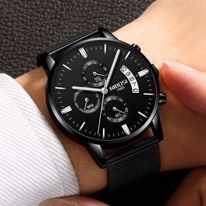 Image 4 - NIBOSI reloj deportivo para hombre, cronógrafo, resistente al agua, de cuarzo, dorado, Masculino