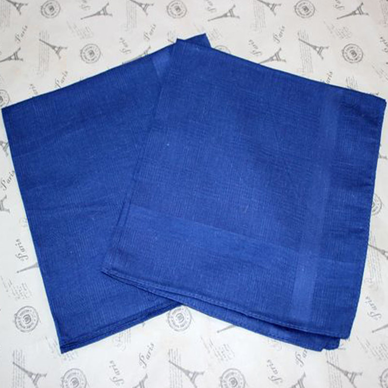 Mens Handkerchief Cotton Handcuffs Plaid Pocket Towel Man Handkerchiefs 5Pcs/Lot 40CM
