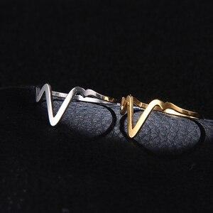 Женские кольца из нержавеющей стали DOTIFI 316L, v-образное кольцо, обручальное кольцо, ювелирные изделия