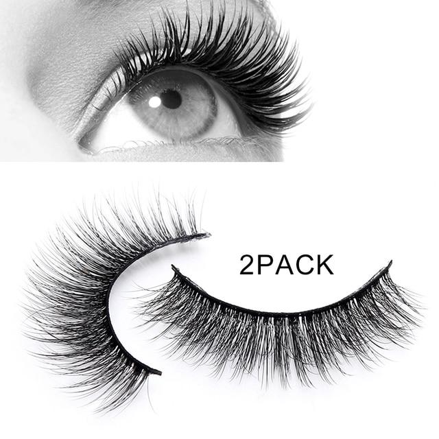 2pair 3d Mink Eyelash Extension Set Natural Eye Lashes Mink Fake