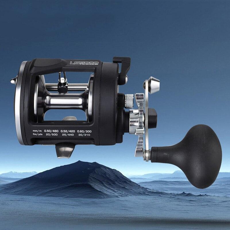ФОТО Casting Fishing wheel Bait Reels Trolling Reel Saltwater 3000L Right Hand Black Sea 9BB Fishing Reel Tatula Bait casting Coil