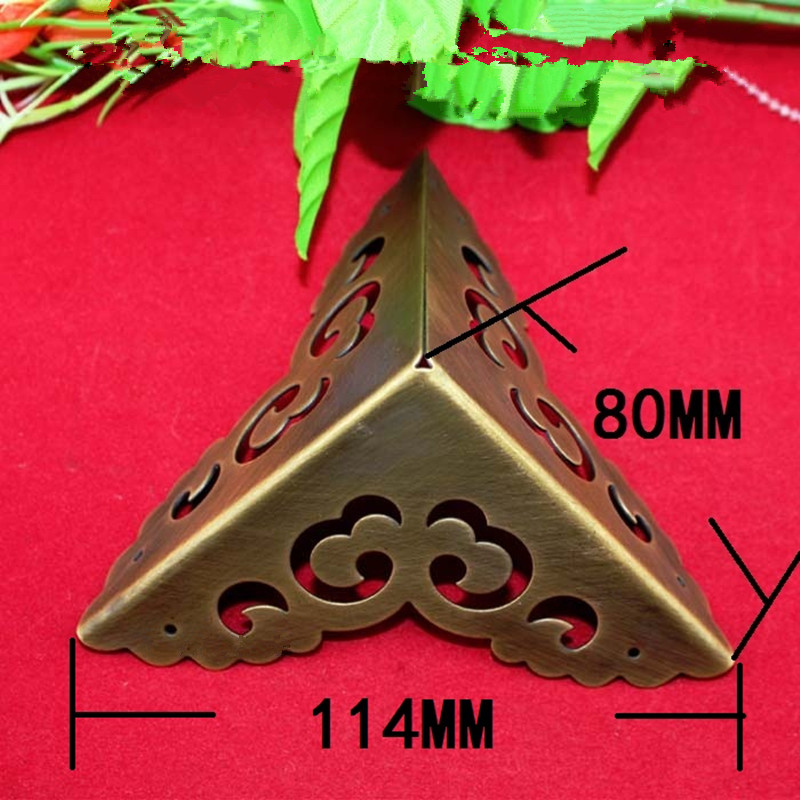 Brass Corner,Luggage Case Box Corner Brackets Decorative Corner For Furniture Decoration Triangular Corners,Brass Color,80mmBrass Corner,Luggage Case Box Corner Brackets Decorative Corner For Furniture Decoration Triangular Corners,Brass Color,80mm