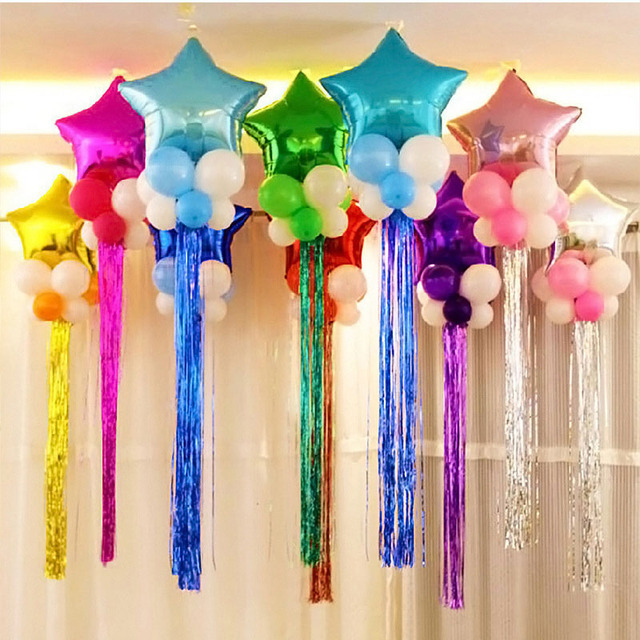 50pcs Lot Balloons Tassel Drizzle Balls Pendant Decorations For Wedding Party Event Or Background Curtains
