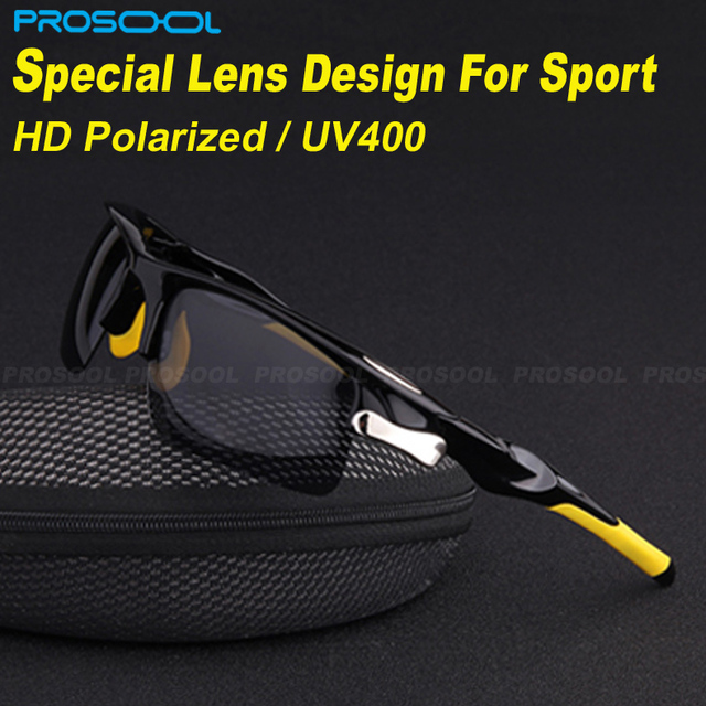 PROSOOL Men's Sunglasses Sports Sunglass Polarized Sun glasses for Biking Outdoor Running Driving Ciclismo Gafas Oculos De Sol