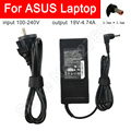 Laptop Charger  Power Cable Adapter Replacement AC Adapter 19V-4.74A 5.5*2.5mm Round Port With Needle for ASUS Laptop Notebook