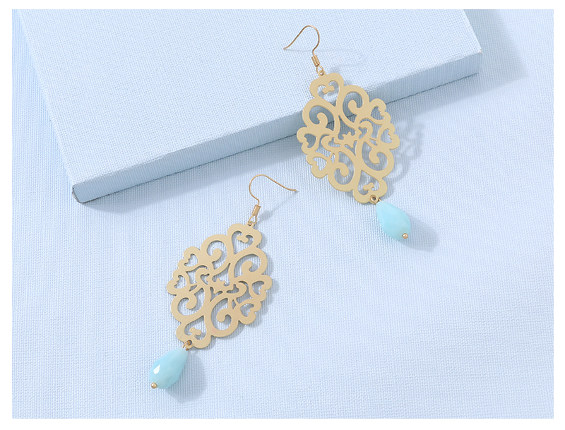 HTB1KxAMskCWBuNjy0Faq6xUlXXaj - Badu Gold Drop Earring Copper Hollow Out Women Vintage Dangle Earrings Sky Blue Crystal Pendant Fashion Jewelry