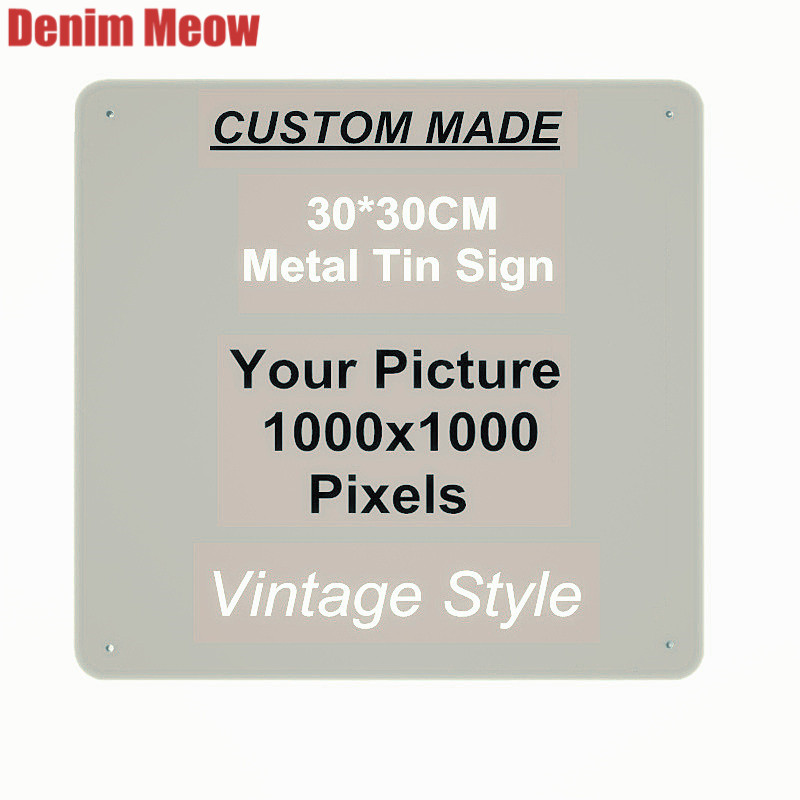 20x30cm 15x30cm 30x30cm Vintage Custom Metal Signs Customize License Plates Retro Plaque Wall Stickers Iron Painting Home Decor in Plaques Signs from Home Garden