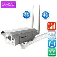 OwlCat 1080P 720P 3G 4G SIM Card Camera Wifi Outdoor HD Bullet Camera Wireless IR 50M