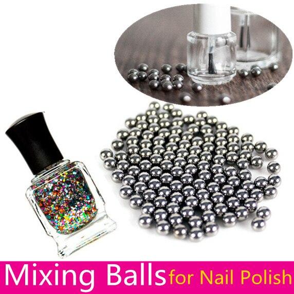 20pcs Nail Polish Mixing Stirring Balls Tool 5mm Stainless Steel Beads For Glittery Nail Art Polish Varnish Balance Tools