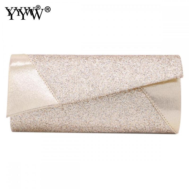 YYW Women Evening Bag For Women 2019 Party Banquet Glitter Bag  Girls Wedding Clutches Purse Sequin Clutch Night Bolsas Mujer