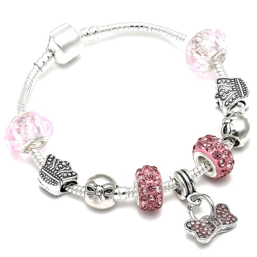 AAA Zircon Charm Bracelet for Women Fit Pandora Bracelet Jewelry DIY Making Accessories Gifts 3