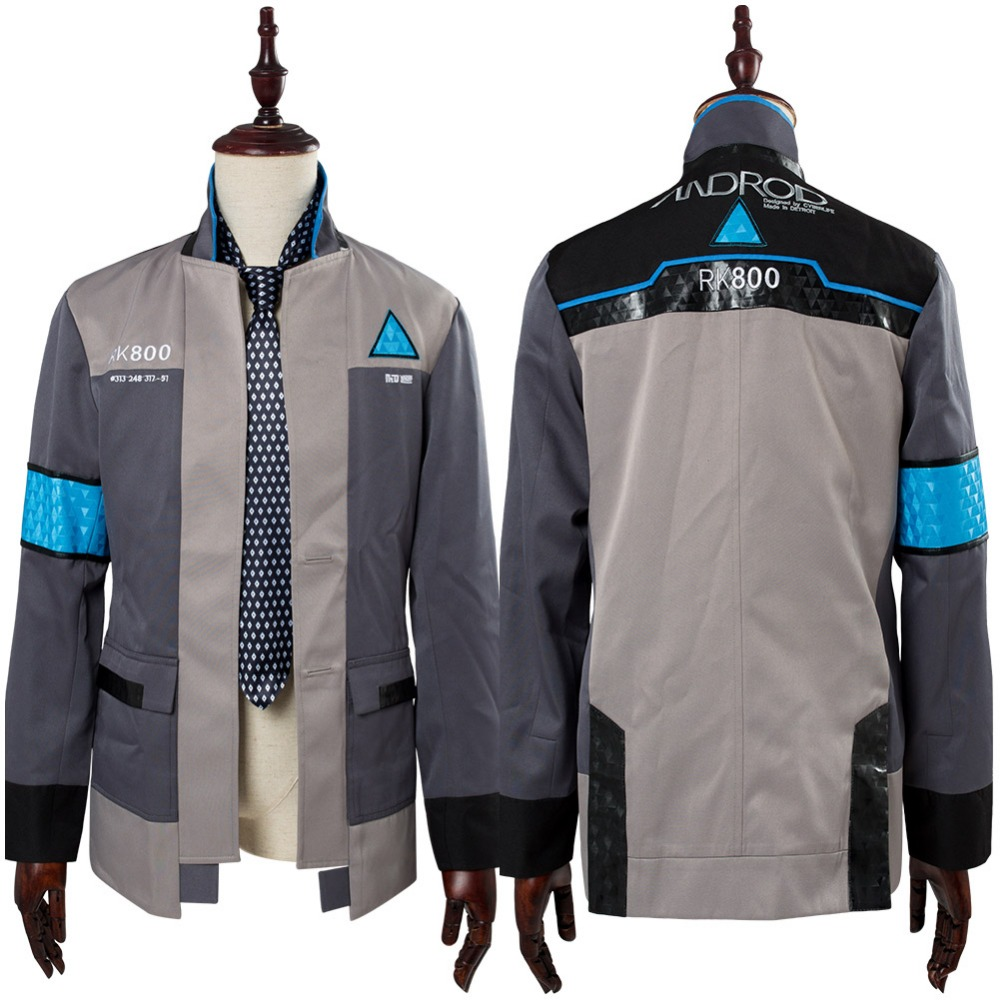 COSPLAY Detroit: Become Human Connor RK800 Cosplay Costume Suit Uniform Jacket Tie Outfit Halloween Carnival Custom Made
