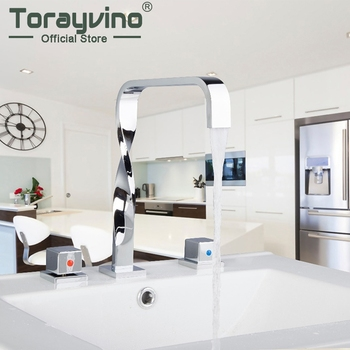 Sumptuous and Superior in Quality Basin Faucet Chrome Polished Deck Mounted  Single Handle Hot Cold Water Excellent Kitchen Tap