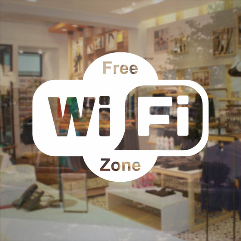 Free WiFi Zone Sticker Store Business Sign - Vinyl Decal Cheap Sale Business Sticker For Store Shop Restaurant Etc. NW19