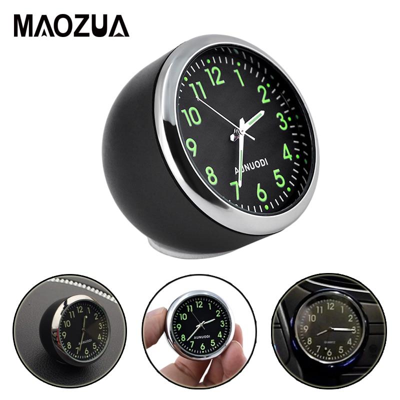 Mini Car Clock Luminova Car Accessories Car Mechanics Quartz Clock Car cute watch With Luminous Light