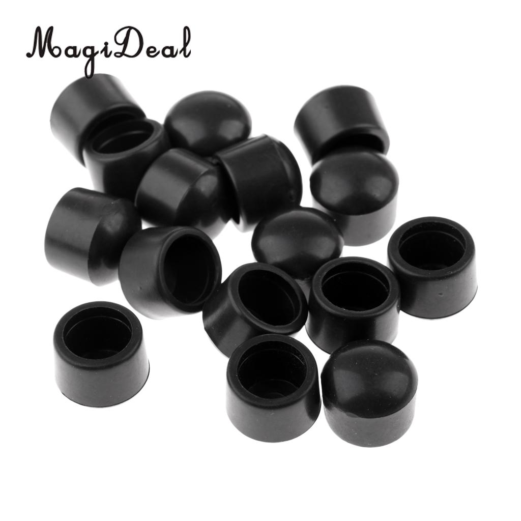 MagiDeal 16 Pieces - Table Football Rod Cover End Caps - Soccer Foosball Machine Rubber Caps  Accessories