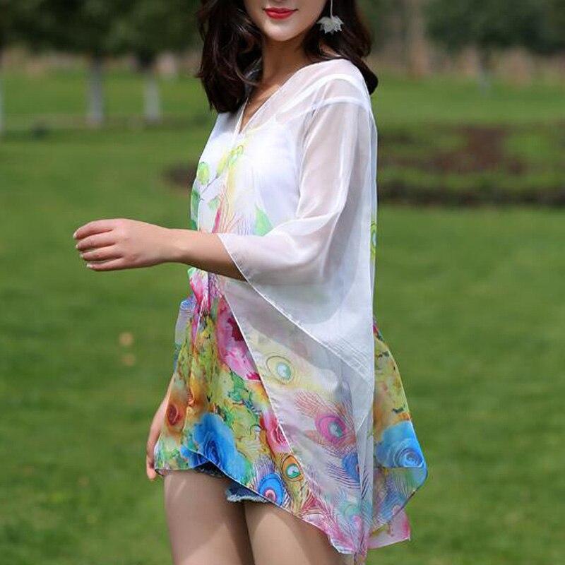 TDFunlive nieuwe zomer chiffon bedrukte losse vest sjaal vrouwelijke - Sportkleding en accessoires - Foto 4