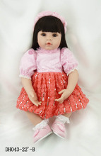 The new vinyl reborn dolls 55cm silicone lifelike simulated baby doll toddler brinquedos best christmas new year boutique gifts
