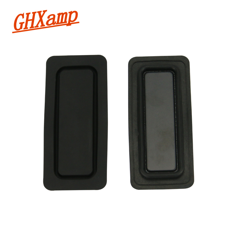 GHXAMP 2PCS 46 * 102MM Bass Vibration Membrane Diaphragm Bass Radiatore intensificatore Metallo bordo in gomma Accessori per altoparlanti