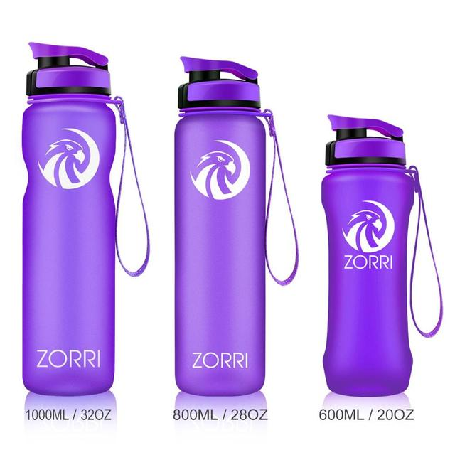 ZORRI Gym Bottle Protein Shaker Sports Waterbottle Outdoor Bicycle Cross-country Tour Adult/Kids Water Bottle botellas para agua 2
