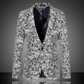 Homens Blazers De Lã 2016 Nova Moda Outono Jacquard Plus Size M-6XL Casual Magro Worsted Vestido Terno de Negócio Jacket 13M0137