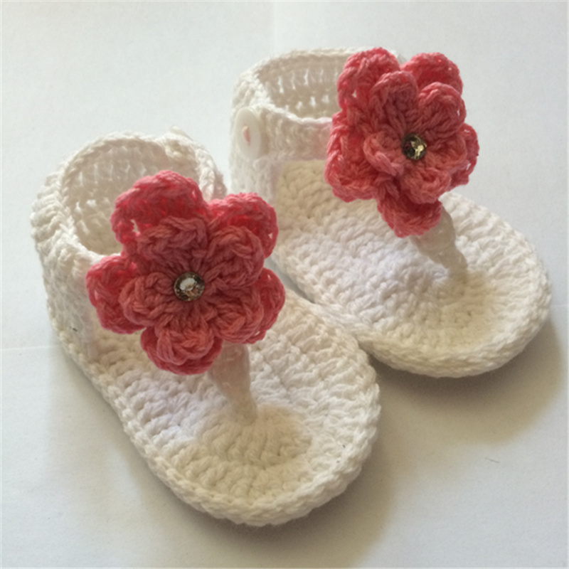 QYFLYXUE- Free shipping,Crochet baby , baby gladiator ,baby booties,baby shoes,pink and tan,MADE TO ORDER size:9cm,10cm,11cm