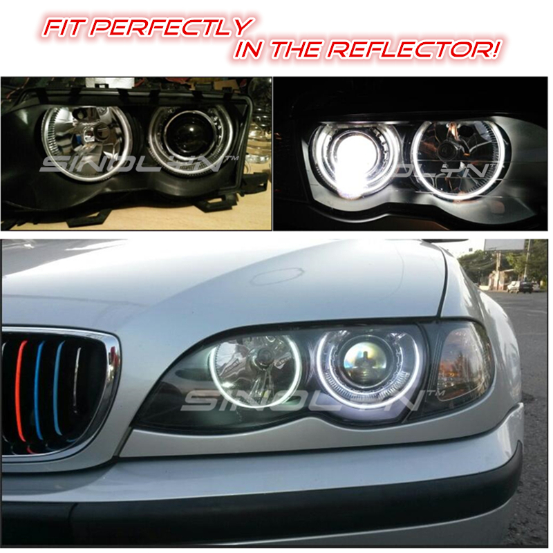 Image 3 - Sinolyn H7 Lens 2.5 Bi xenon Projector Lenses For BMW ZKW/AL M3 E46 Halogen Headlight Accessories Tuning Style Use H1 HID Xenon-in Car Light Accessories from Automobiles & Motorcycles