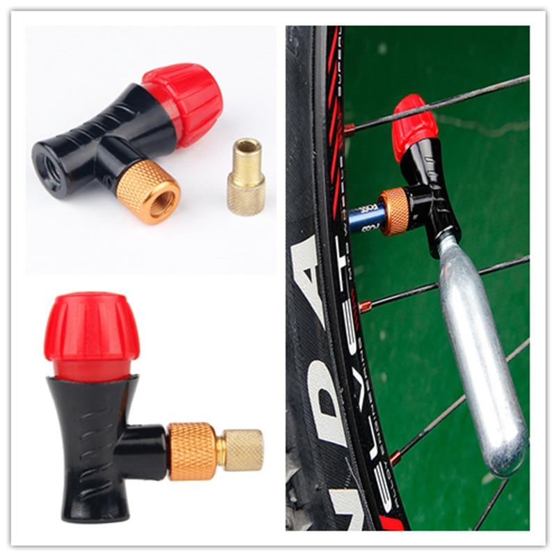 Valve de pompe à air de vélo AV/FV portable CO2 bouteille d'air tête de valve schrader & presta valve universelle vtt gonfleur d'air accessoires