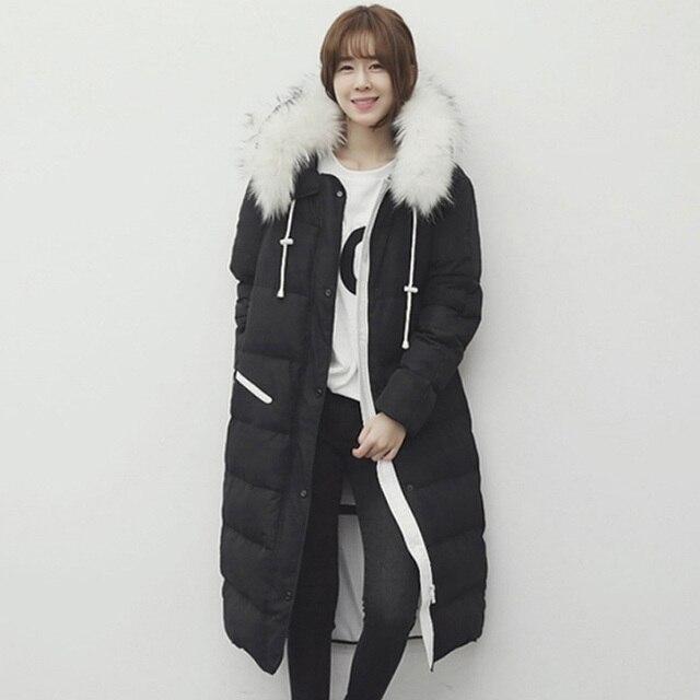 5ea70bedcadc 2016 Inverno Engrossar Para Baixo Casaco de Algodão Mulheres Jaqueta  Acolchoada Coreano Preto Cinza X-