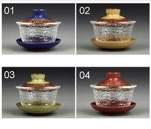 Glas gai wan teaset China kungfu Tee-Sets Dehua gaiwan tee porzellan teekanne tee-set für reise Schöne einfache wasserkocher
