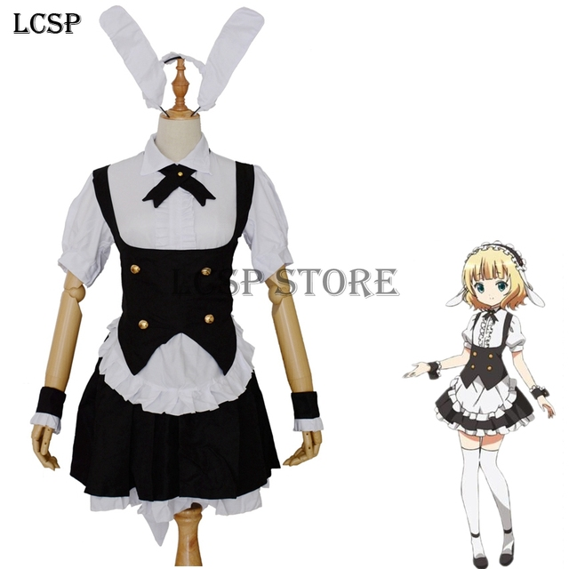 LCSP Is The Order A Rabbit Kirima Sharo Cosplay Costume Japanese Anime Maid Uniform Suit Outfit  sc 1 st  AliExpress.com & LCSP Is The Order A Rabbit Kirima Sharo Cosplay Costume Japanese ...