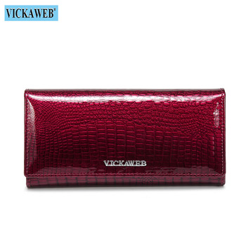 Alligator Patent Leather Women's Wallet Bags and Wallets New Arrivals Women's Wallets Color: New Jujube Red Ships From: Russian Federation