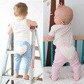 Moda Bebé PP Pantalones Niñas Recién Nacidas Del Corazón Diseño Leggings Niños Largos de Algodón Azul Pantalones de los Bebés Chothes 80850