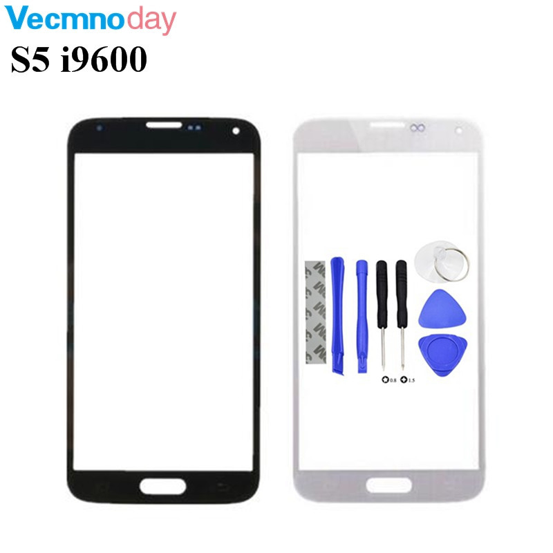 Vecmnoday Outer Glass For Sumsung Galaxy S5 G900FD Touchscreen Glass Cover For Samsung S5 i9600 Touch Screen Panel Replacement