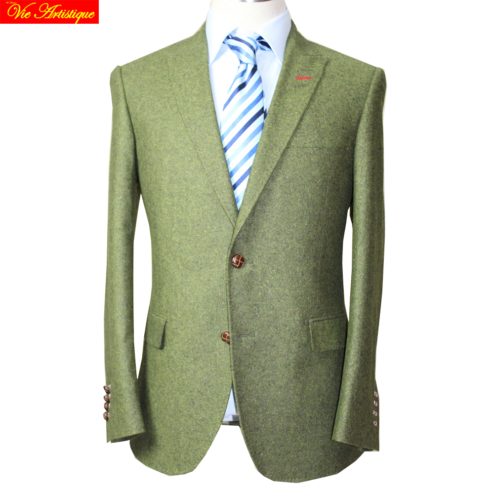 VA 2017 Herbst Winter Herren Slim Fit Tweed Wolle Business Hochzeit - Herrenbekleidung - Foto 1