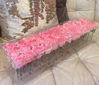 54cm long x 15cm wide x 9.5cm high Acrylic Flower Box Rose Small Boxes Valentine's Day Present Surprise Gift Without Flowers