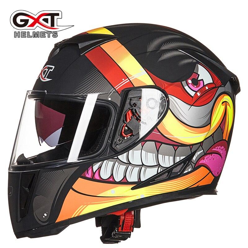 GXT 358 Motorcycle Helmets Men Motocross Racing Helmet Motorbike Full Face Dual Shield Moto casco-in Helmets from Automobiles & Motorcycles    1