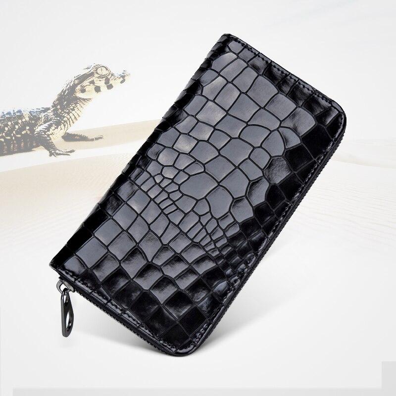 2017 new alligator wallet genuine leather wallet Zipper bag cowhide clutch Wallet bag