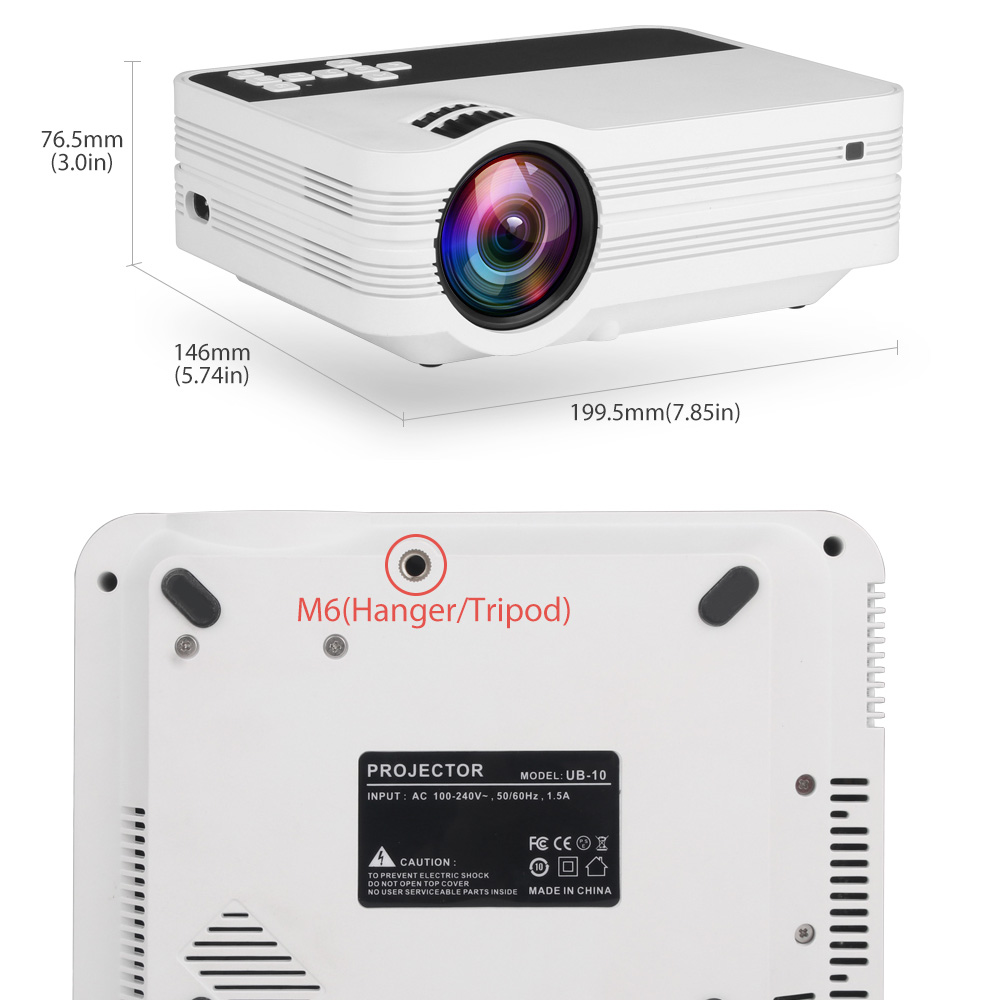 Image 5 - ThundeaL Mini Projector UB10 Portable 3D LED Projector 2000Lumens TV Home Theater LCD Video USB VGA Support 1080P HD Beamer-in LCD Projectors from Consumer Electronics